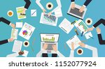 team work concept. top office... | Shutterstock .eps vector #1152077924