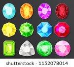 colored gems diamonds set... | Shutterstock . vector #1152078014