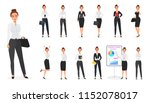 set of business woman... | Shutterstock . vector #1152078017