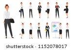 set of business office woman... | Shutterstock . vector #1152078017