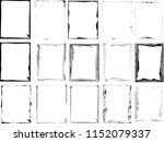 set of grunge black vector... | Shutterstock .eps vector #1152079337