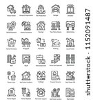 real estate line icons set | Shutterstock .eps vector #1152091487