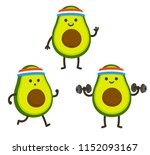 funny heath and fitness... | Shutterstock .eps vector #1152093167