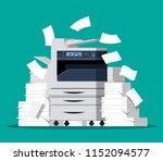 office multifunction machine....   Shutterstock .eps vector #1152094577