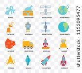set of 16 icons such as space... | Shutterstock .eps vector #1152095477
