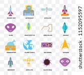 set of 16 icons such as alien ... | Shutterstock .eps vector #1152095597