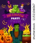 halloween night party festive... | Shutterstock .eps vector #1152106067