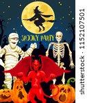 halloween horror night party... | Shutterstock .eps vector #1152107501