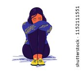 depressed teenager. depressed...   Shutterstock .eps vector #1152111551