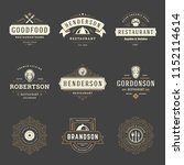 restaurant logos design... | Shutterstock .eps vector #1152114614