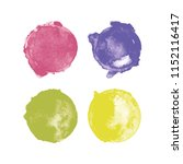 set of colorful watercolor high ... | Shutterstock .eps vector #1152116417