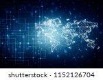 2d illustration world map... | Shutterstock . vector #1152126704