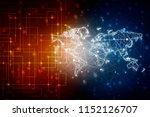 2d illustration world map... | Shutterstock . vector #1152126707
