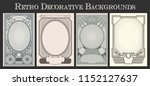 vector vintage decorative... | Shutterstock .eps vector #1152127637