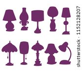 lamps lights silhouettes vector ... | Shutterstock .eps vector #1152128207