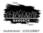 bangkok thailand city skyline... | Shutterstock .eps vector #1152128867
