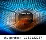 neon glowing techno hexagon... | Shutterstock .eps vector #1152132257