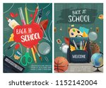 back to school posters  hall... | Shutterstock .eps vector #1152142004