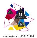 triangle infographics design... | Shutterstock .eps vector #1152151904