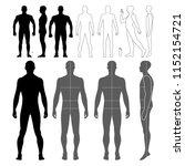 fashion man body full length... | Shutterstock .eps vector #1152154721