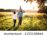 parents having fun with their... | Shutterstock . vector #1152158864