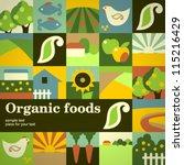 organic food concept vector... | Shutterstock .eps vector #115216429