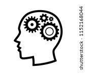 human head gears tech logo ... | Shutterstock .eps vector #1152168044