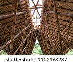 bamboo roof construction. roof... | Shutterstock . vector #1152168287