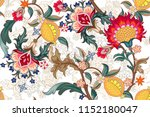 seamless pattern with stylized... | Shutterstock .eps vector #1152180047