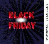 black friday  banner template ... | Shutterstock .eps vector #1152186371