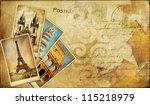 Vintage Post Cards Bavkgoiund...