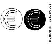 euro icon set | Shutterstock . vector #1152193031