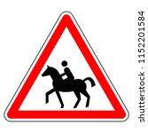 road sign in france  beware of ... | Shutterstock . vector #1152201584