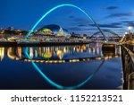 gateshead millennium bridge... | Shutterstock . vector #1152213521
