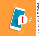 alert notification with... | Shutterstock .eps vector #1152214241