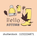 hand drawn autumn illustration... | Shutterstock .eps vector #1152226871