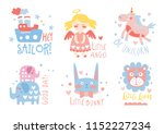 cute hand drawn decor elements... | Shutterstock .eps vector #1152227234