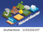 natural disaster isometric... | Shutterstock .eps vector #1152232157