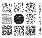 herbal pattern  plant... | Shutterstock .eps vector #1152244991