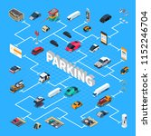 parking lots spaces facilities... | Shutterstock .eps vector #1152246704