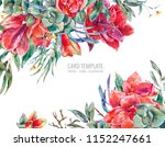 watercolor floral template card ... | Shutterstock . vector #1152247661