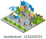 contact zoo isometric... | Shutterstock .eps vector #1152253721