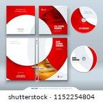 cd envelope  dvd case design.... | Shutterstock .eps vector #1152254804