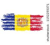 flag of andorra the... | Shutterstock .eps vector #1152255371
