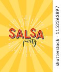 salsa party vector logotype.... | Shutterstock .eps vector #1152263897