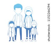 family parents and childrens... | Shutterstock .eps vector #1152266294