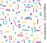 cute simple pattern with... | Shutterstock .eps vector #1152278831