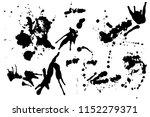 hand drawn set of black ink...   Shutterstock .eps vector #1152279371