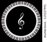Circle Of Piano Keys With...