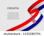 waving flag of croatia.... | Shutterstock .eps vector #1152280754